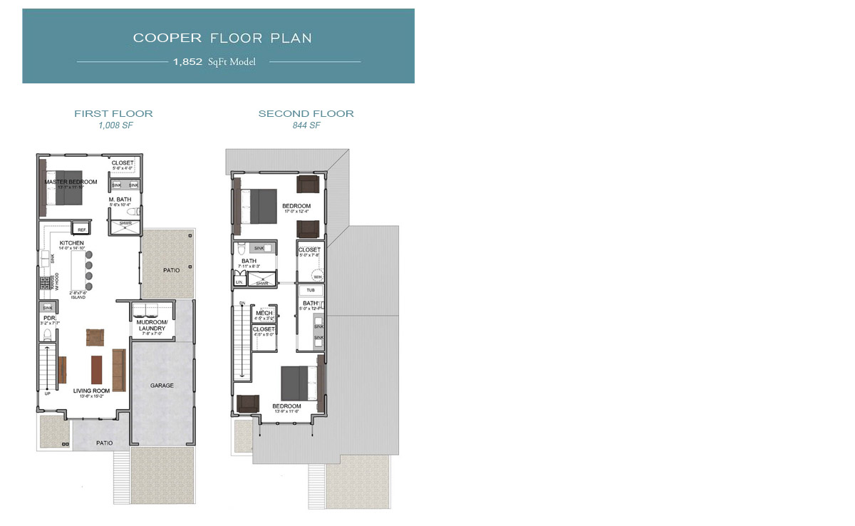 Cooper Floor Plan at Eden's Landing Santa Rosa Beach