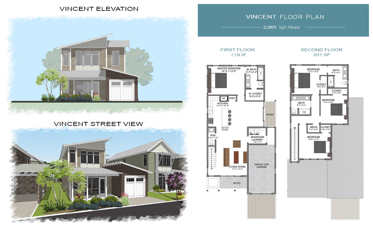 Vincent Floor Plan at Eden's Landing Santa Rosa Beach