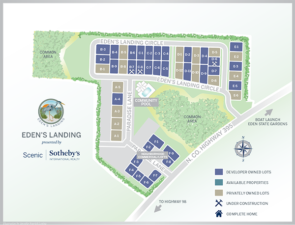 Map Showing the community of Eden's Landing