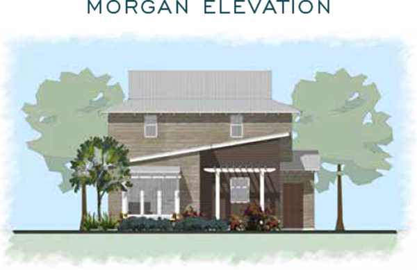 Morgan Elevation for homes at Eden's Landing